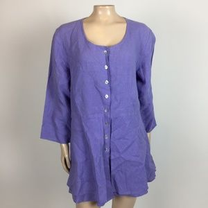 Habitat Women's Tunic Top Lagenlook artsy K31